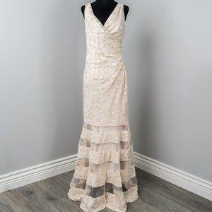 NWT Lauren Ralph Lauren Ivory Lace Formal gown -6